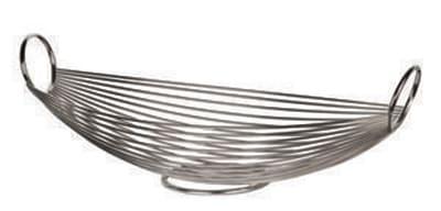 World Tableware BM-22177 Oval Bread Basket - Stainless