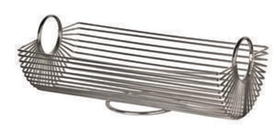 World Tableware BM-22178 Rectangular Bread Basket - Stainless