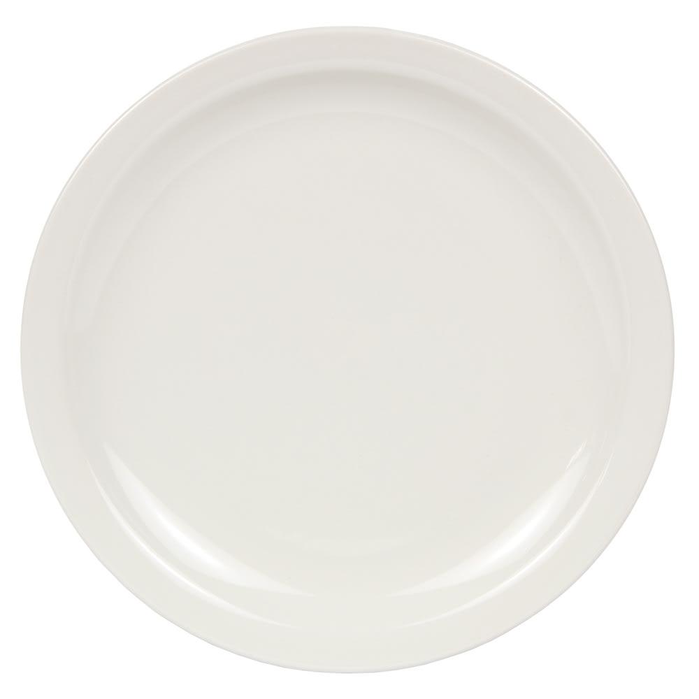 World Tableware BNR-16-CW Cream White Narrow Rim Plate, Tenacity, Round