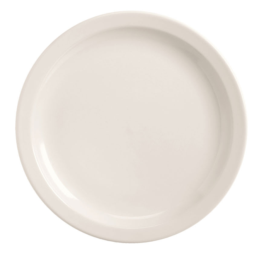 World Tableware BNR-5-BW Bright White Narrow Rim Plate, Tenacity, Round