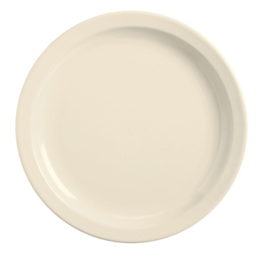 World Tableware BNR-6-CW Cream White Narrow Rim Plate, Tenacity, Round