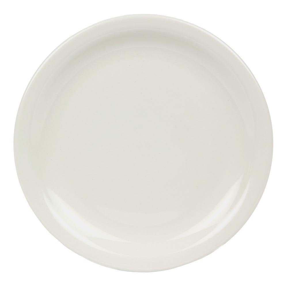 World Tableware BNR-8-CW Cream White Narrow Rim Plate, Tenacity, Round