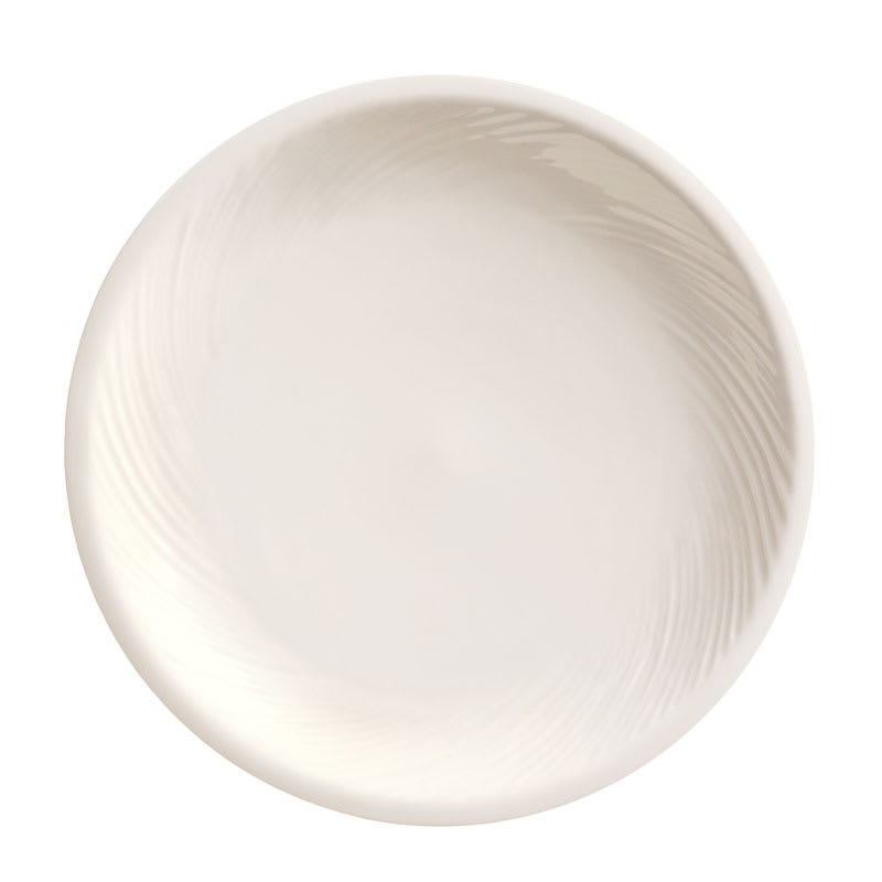 "World Tableware BO-1145 9"" Round Porcelain Pellet Plate w/ Wide Rim, Basics Orbis"