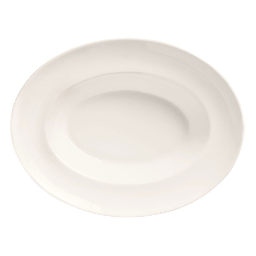 "World Tableware BW-1118 18-oz Oval Porcelain Bowl, 11.87x9"", Basics Collection"