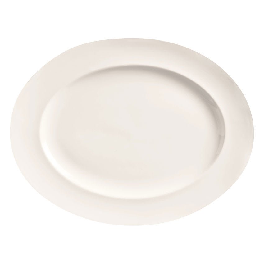 "World Tableware BW-1122 Porcelain Platter, 13.25x10.25"", Basics Collection"
