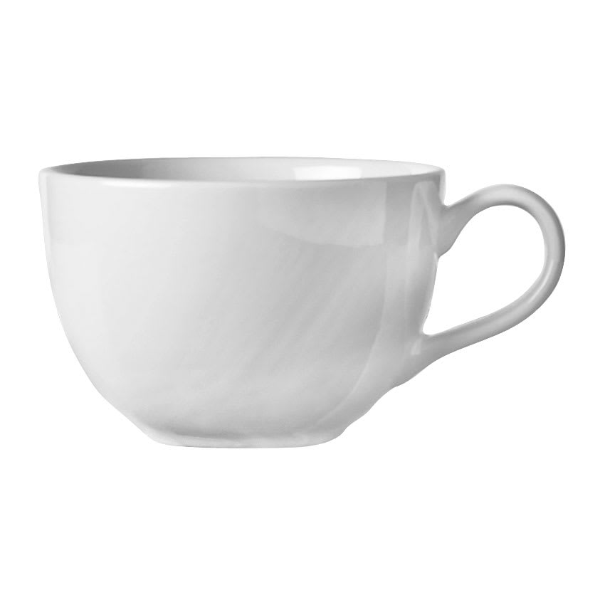 World Tableware BW-1155 11.5 oz Low Cup - Porcelain, Bright White, Basics Collection