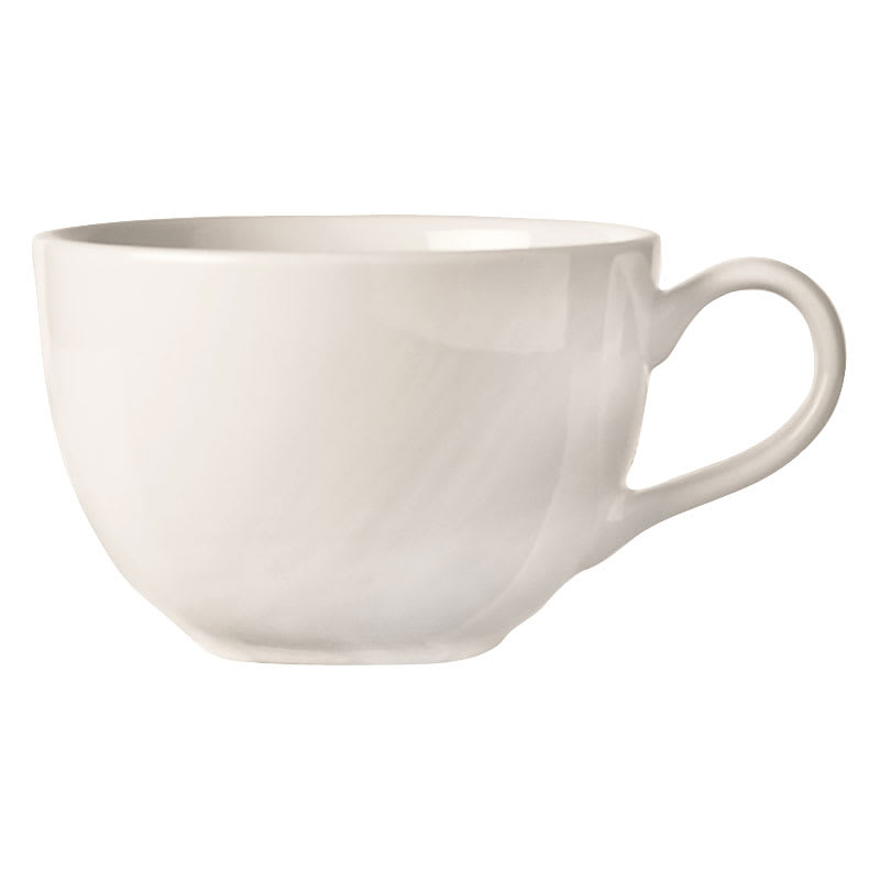 World Tableware BW-1157 15-oz Low Cup - Porcelain, Bright White, Basics Collection