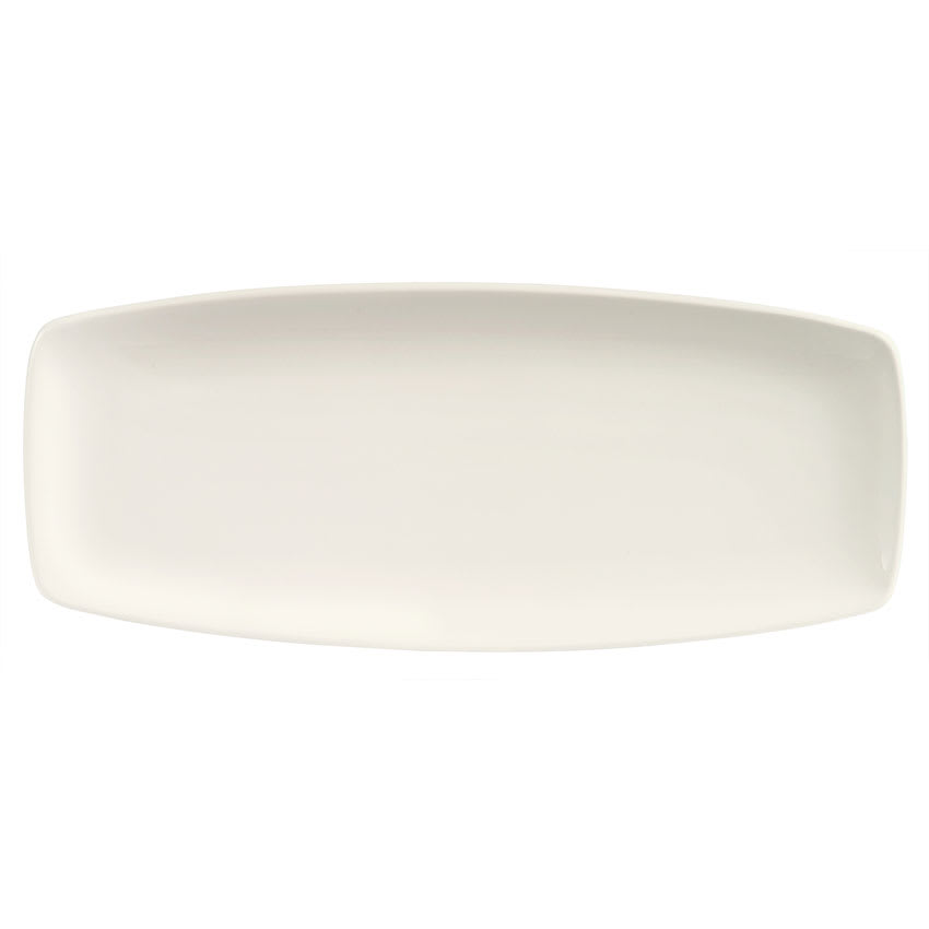 "World Tableware BW-1449 Oblong Porcelain Tray - 14x6"", Bright White, Basics Collection"