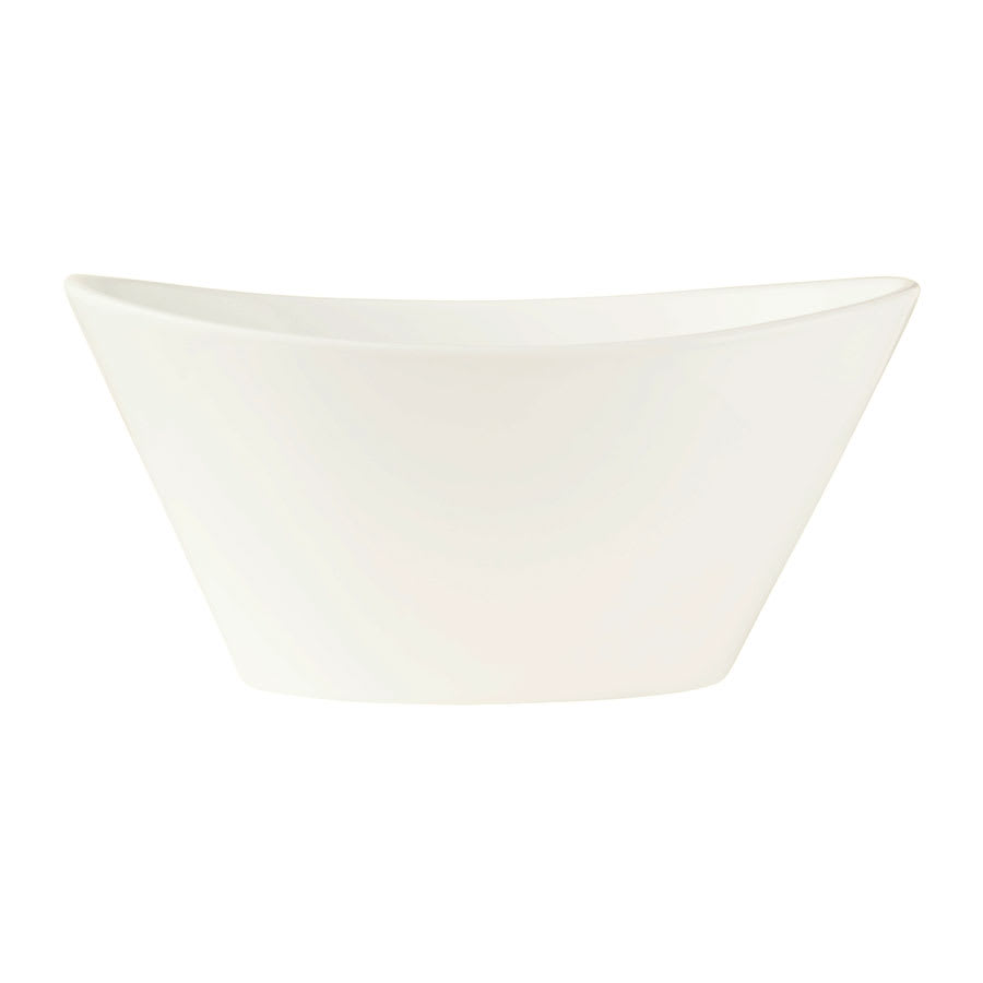 "World Tableware BW-5101 5.5"" Oval Porcelain Neptune Bowl w/ 8.5-oz Capacity, Chef's Selection"
