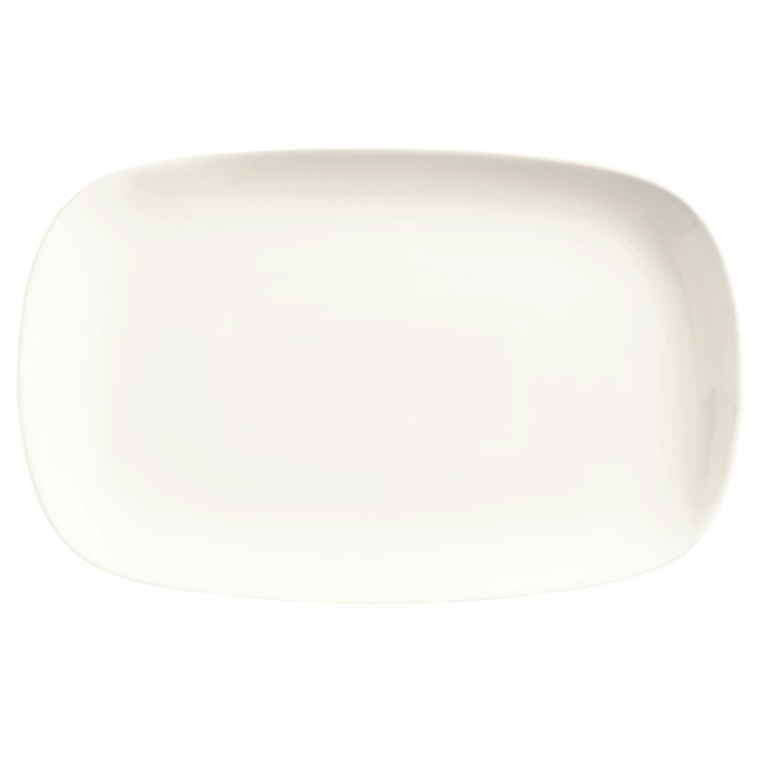 World Tableware BW-6712 Rectangular Platter, Coupe, Ultra Bright White, Chef's Selection