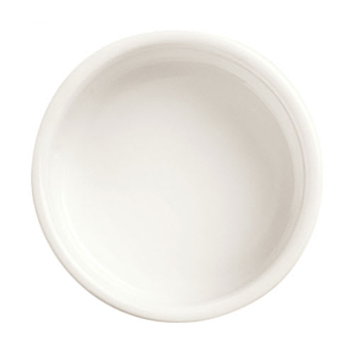 World Tableware BW-6714 2 1/2 oz Oval Monorail Bowl - Porcelain, Ultra Bright White, Chef's Selection