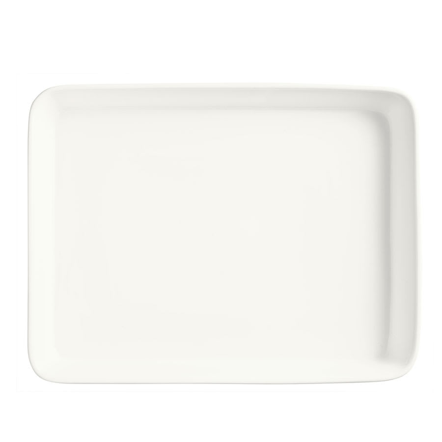 """World Tableware BW-9000 Serving Pan - 15-1/4x12"""" Ceramic, Ultra Bright White, Chef's Selection"""