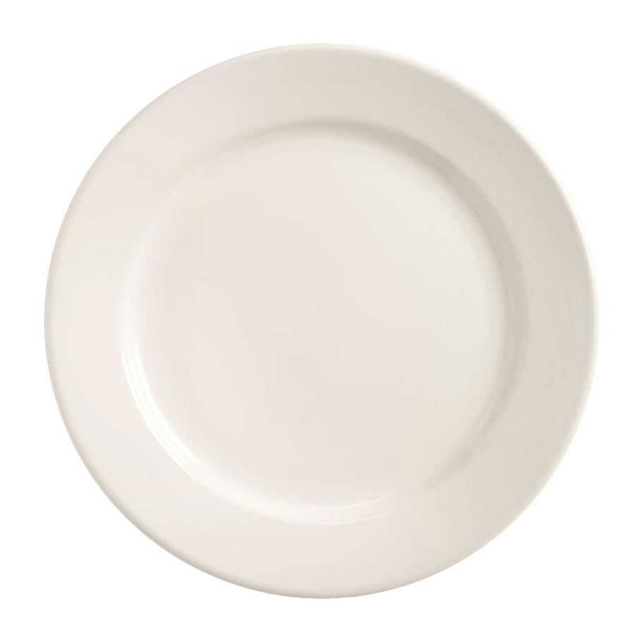 World Tableware BWR-31-BW Bright White Rolled Edge Plate, Tenacity, Round