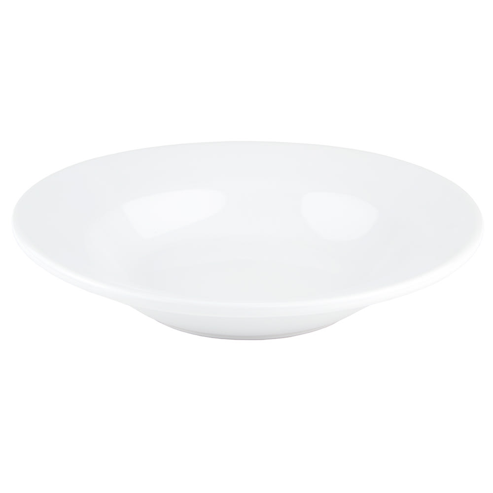 World Tableware BWR-3-BW Bright White Rolled Edge Soup Bowl, Tenacity, Round