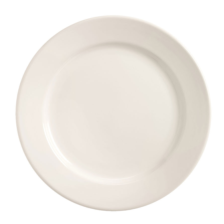 World Tableware BWR-7-BW Bright White Rolled Edge Plate, Tenacity, Round