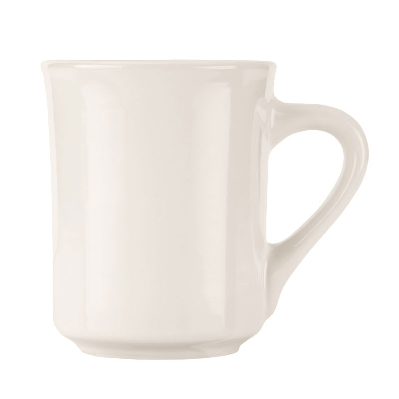 World Tableware BWR-88-BW Bright White Mug, Tenacity, Round