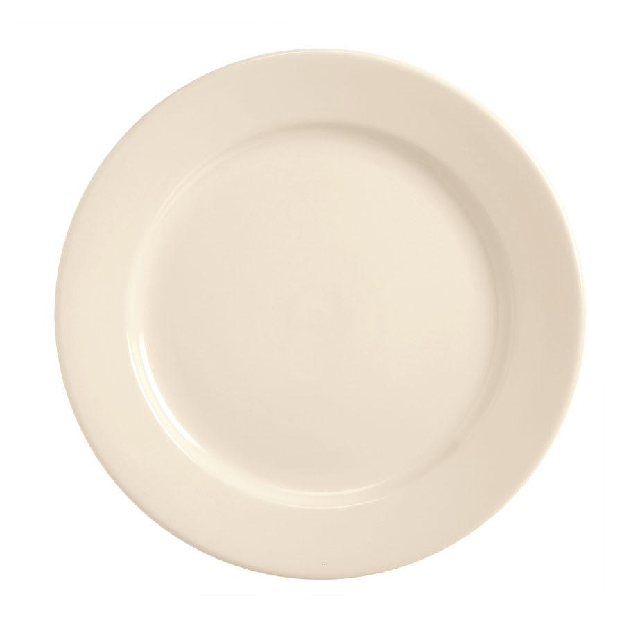 World Tableware BWR-8-CW Cream White Rolled Edge Plate, Tenacity, Round