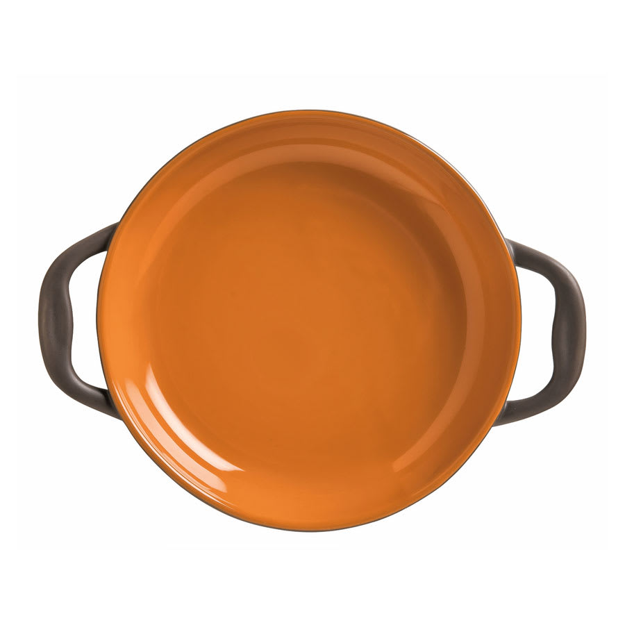 World Tableware CBP-003 14-oz Coos Bay Round Tray with Handles - Ceramic, Pumpkin