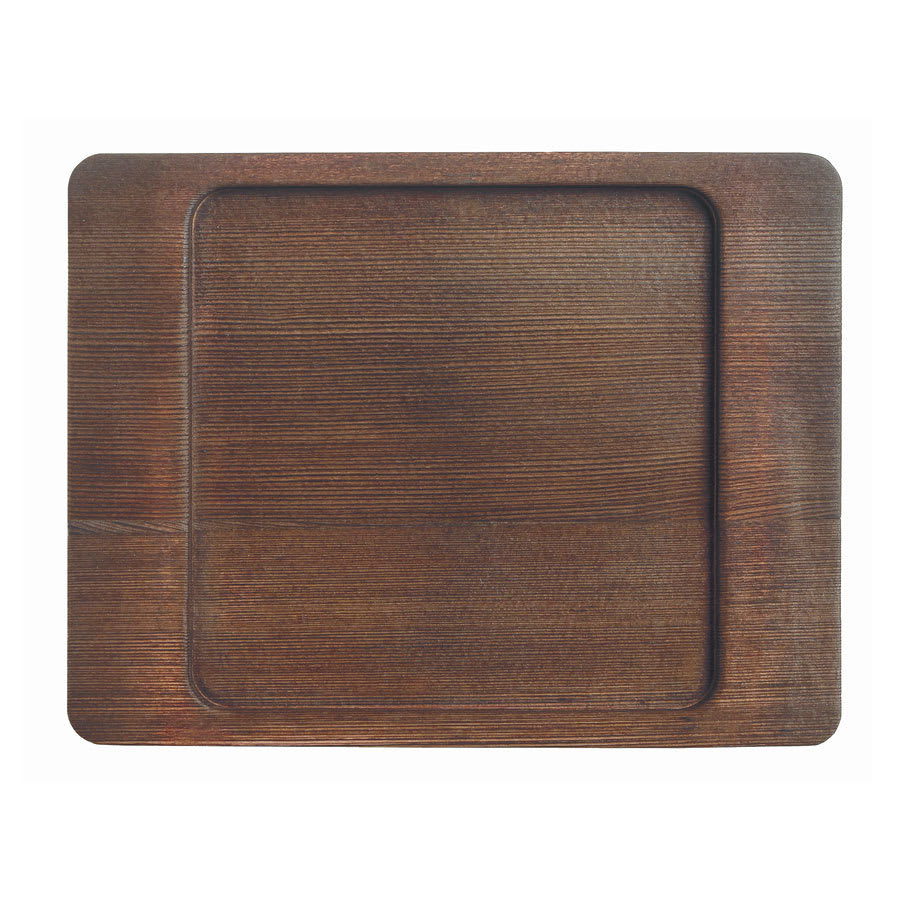 "World Tableware CIS-16TR 7.875"" Square Trivet, Wood"