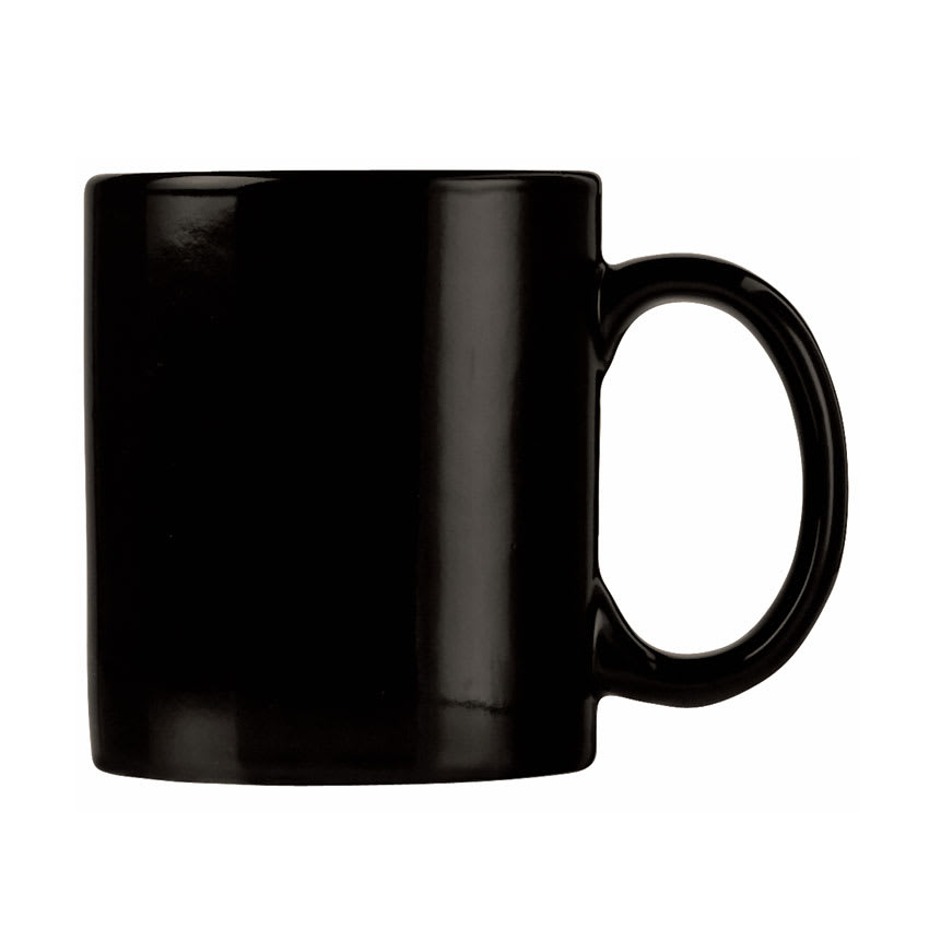 World Tableware CM-12-B 12-oz Stoneware Mug, Black