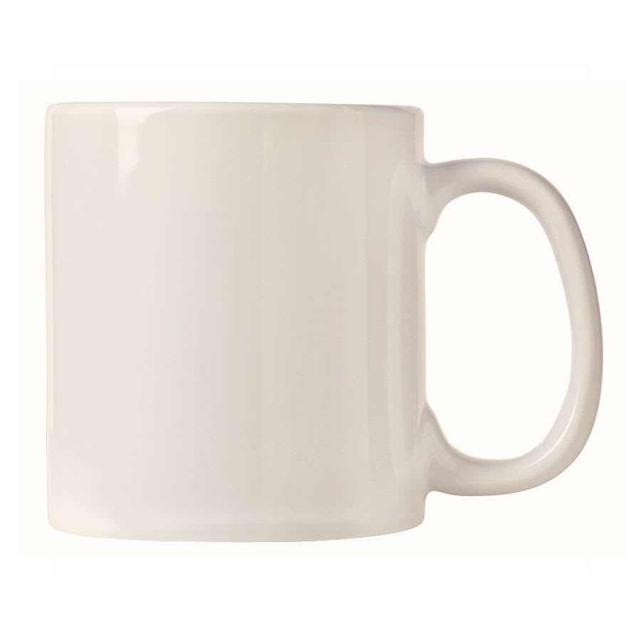 World Tableware CM-16 16-oz Mug - Porcelain, Bright White, Ultima