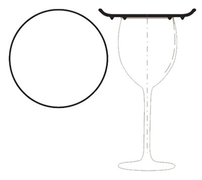 World Tableware CP-05 5.25-in Cocktail Plate w/ Double Foot, Coupe, Cream White, DrinkMates Ultima
