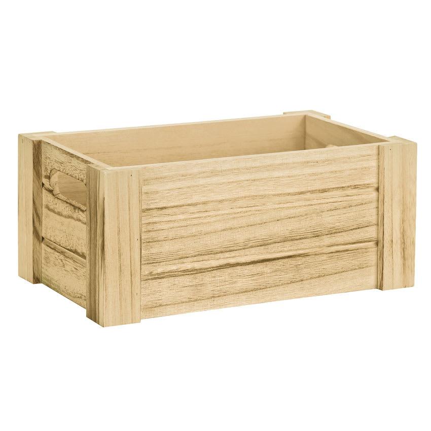 World Tableware CRW-16 Rectangular Wood County Riser with Handles - 10-1/4x6-1/4x4-1/4