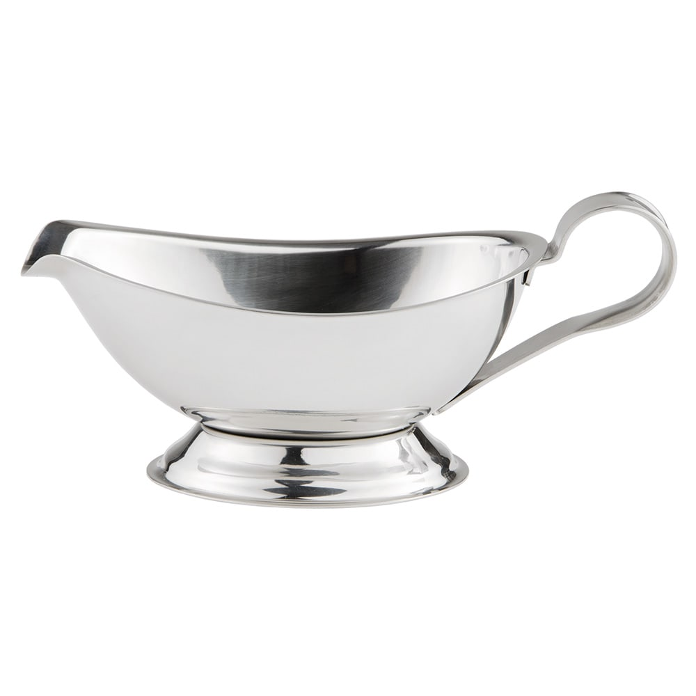 World Tableware CT-211 8-oz Belle Gravy Boat - 18/8 Stainless