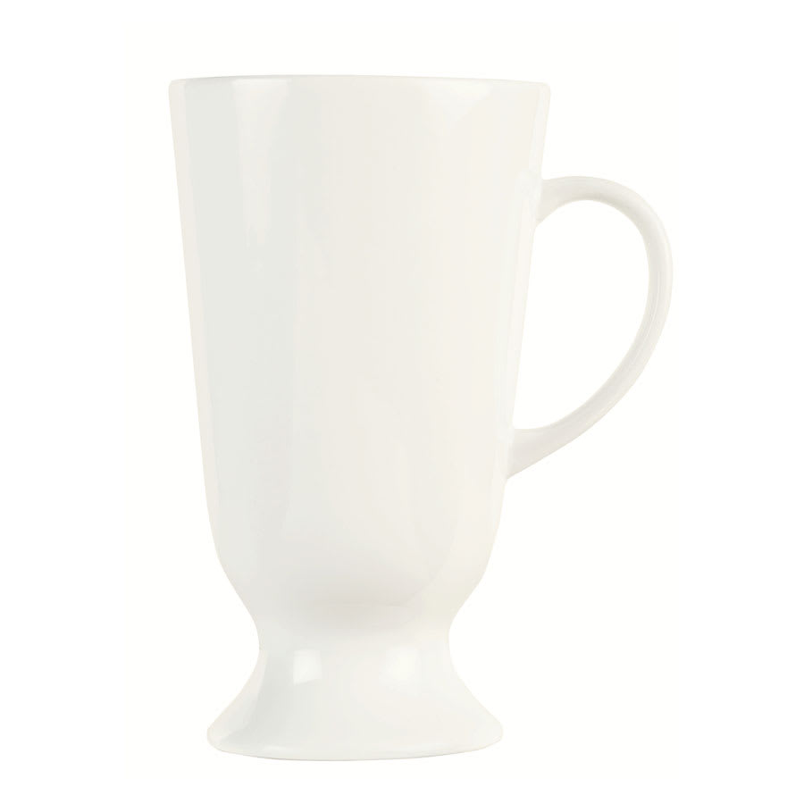 World Tableware DM-15 13.5 oz Footed Mug w/ Handle - Ultra Bright White, Dublin