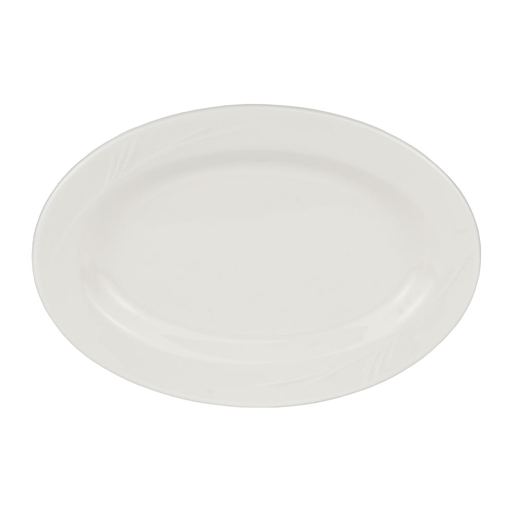 "World Tableware END-34 13.5"" Porcelain Platter, Endurance"