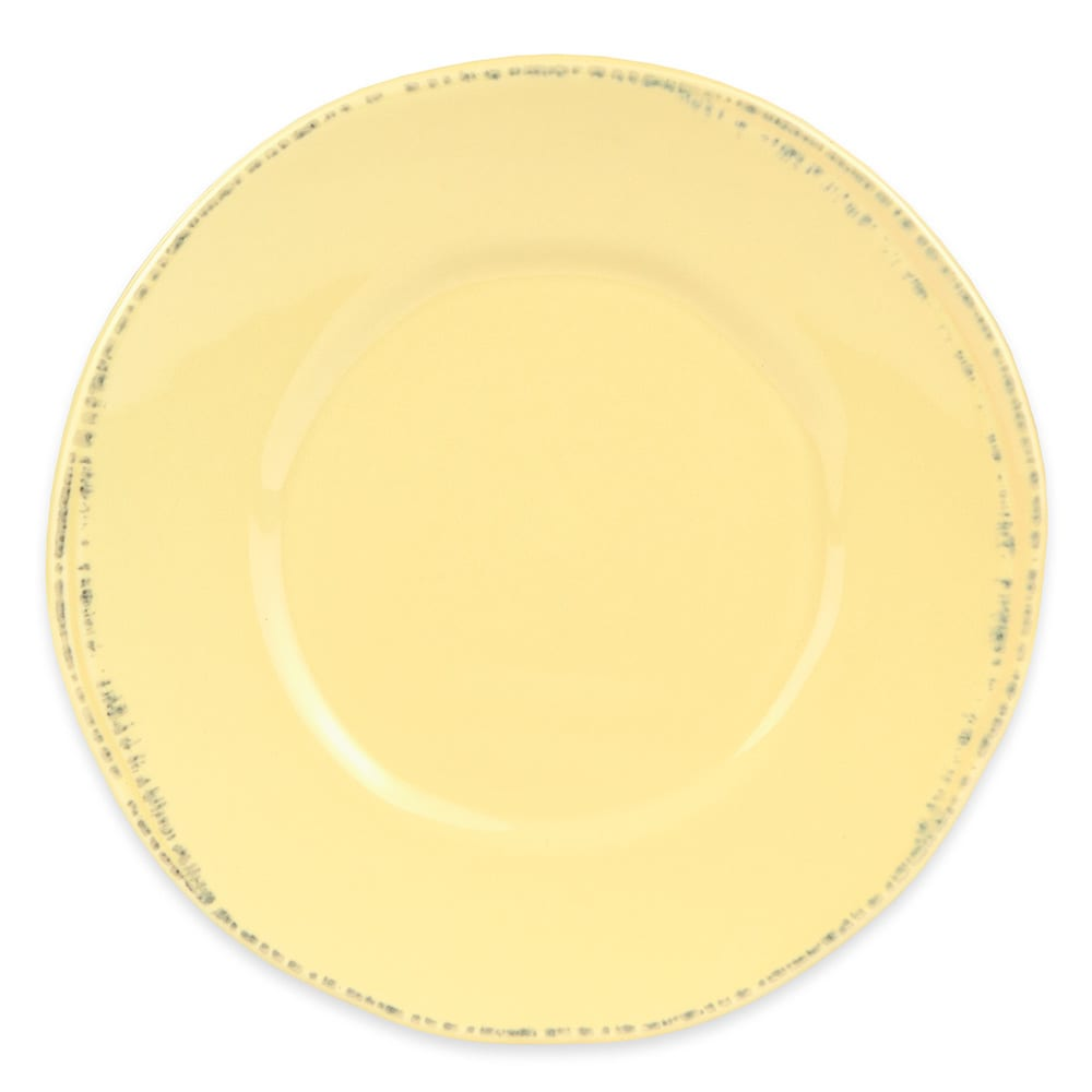 "World Tableware FH-500B 6 3/8"" Round Porcelain Plate - Butter Yellow"