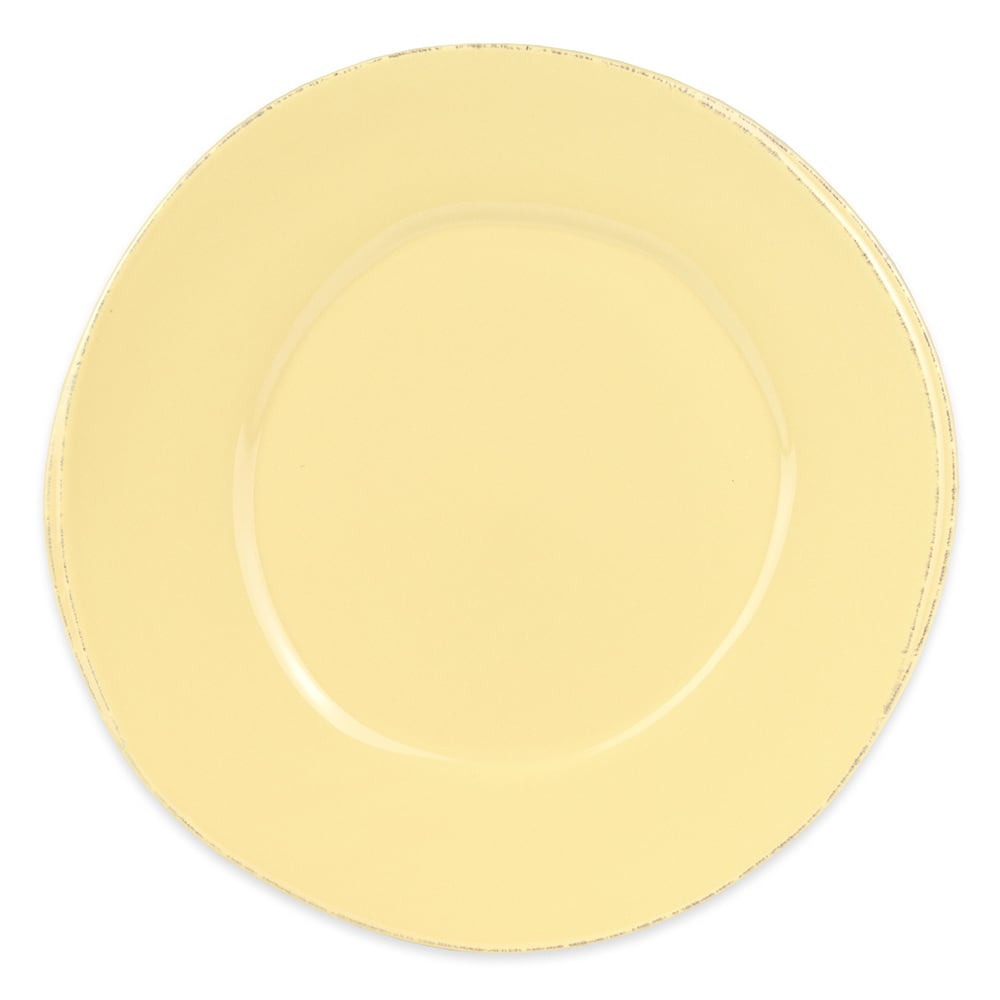 "World Tableware FH-504B 12"" Round Porcelain Plate - Butter Yellow"
