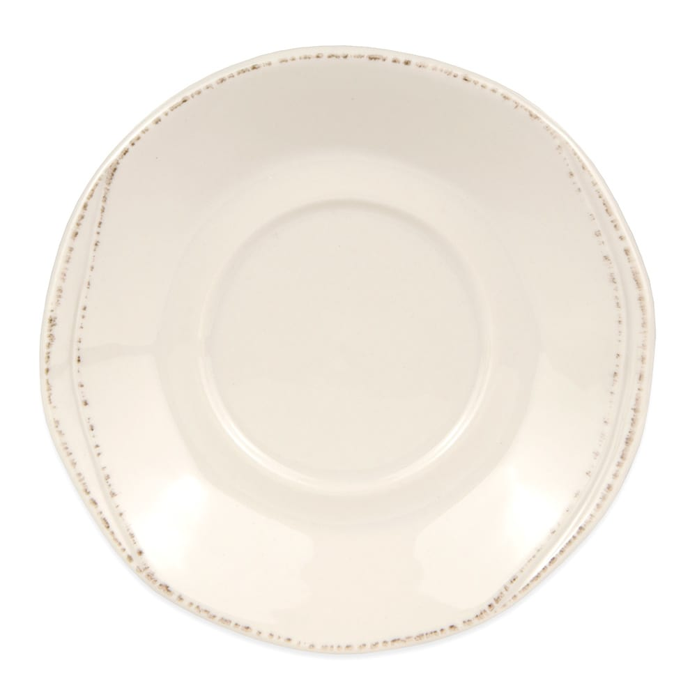 "World Tableware FH-519 6-1/4"" Saucer - Ceramic, Cream White, Round"