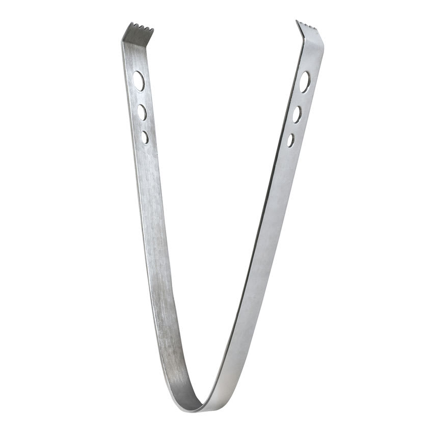 """World Tableware IT-1 7.25""""L Stainless Ice Tongs"""