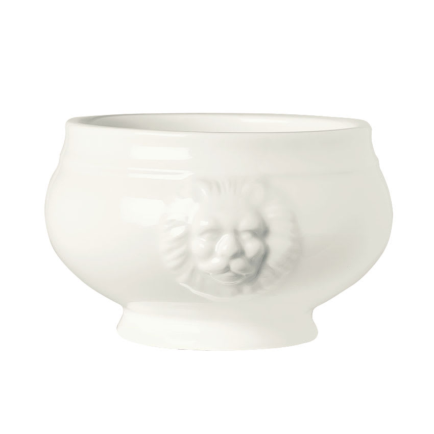 World Tableware LH-12 10 oz Lions Head Soup Bowl - Porcelain, Ultra Bright White