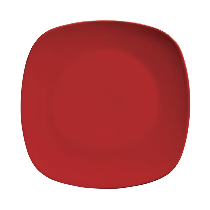 "World Tableware MB-63SC-R 8.125"" Square Coupe Plate, Red"