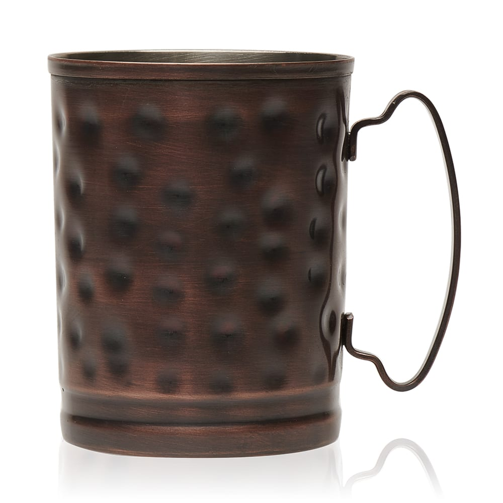 World Tableware MM-200 14 oz Mug - Tall, Hammered Finish, Copper