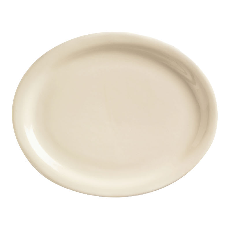 World Tableware NR-12 Cream White Narrow Rim Platter, Kingsmen White, Oval