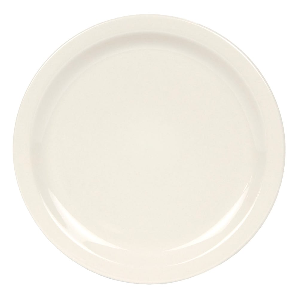 World Tableware NR-16 Cream White Narrow Rim Plate, Kingsmen White, Round