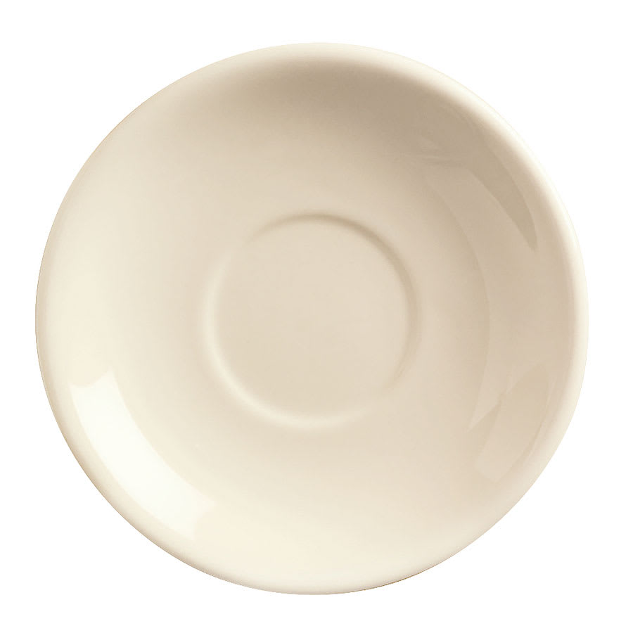 World Tableware NR-2 Cream White Narrow Rim Saucer, Kingsmen White, Round