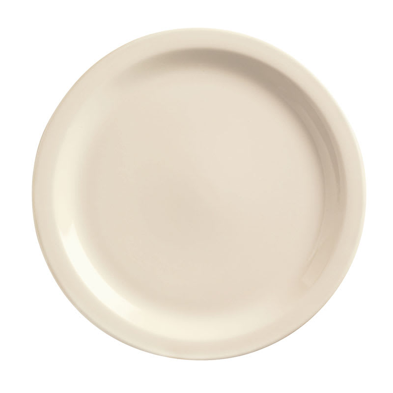 World Tableware NR-7 Cream White Narrow Rim Plate, Kingsmen White, Round