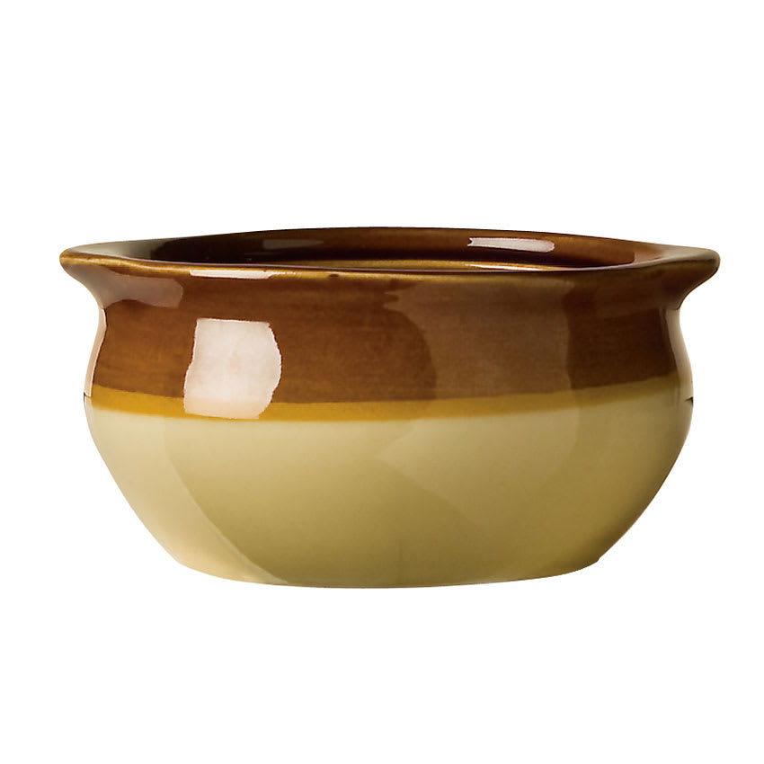World Tableware OSC-15 12-oz Onion Soup Crock, Caramel/Beige, Bedrock Ovenware, Ultima