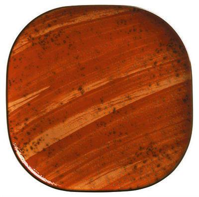 "World Tableware PTR-202 10"" Square Plate - Ceramic, Rust"