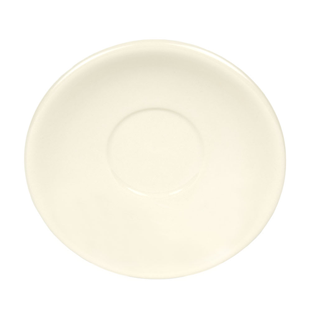 World Tableware PWC-2 Cream White Rolled Edge Saucer, Princess White, Round