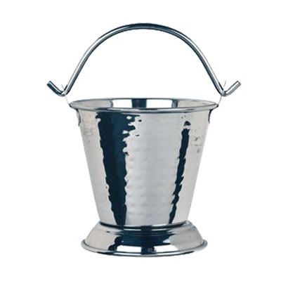 "World Tableware PWH-15 4.25"" Round Pail w/ 15.5-oz Capacity, Sonoran, Stainless"