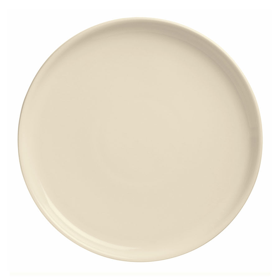 "World Tableware PZ-11 11.37"" Round Pizza Platter w/ Deep Rim, Cream White"