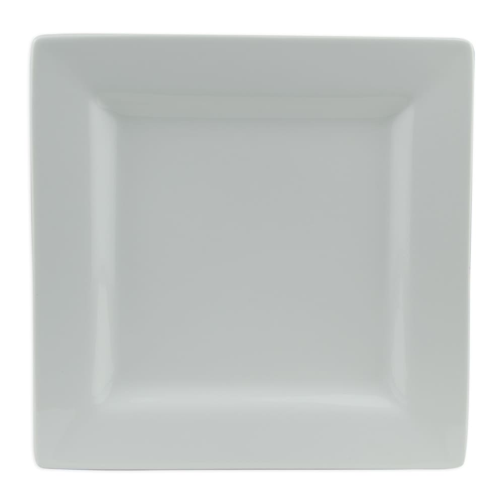 "World Tableware SL-10 10.62"" Plate - Square, Porcelain, Slate"
