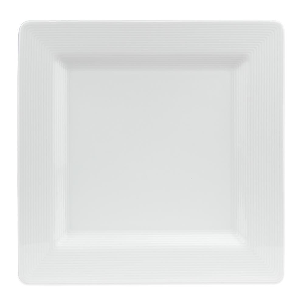 "World Tableware SL-10S 10 5/8"" Square Plate - Porcelain, Ultra Bright White, Slate"