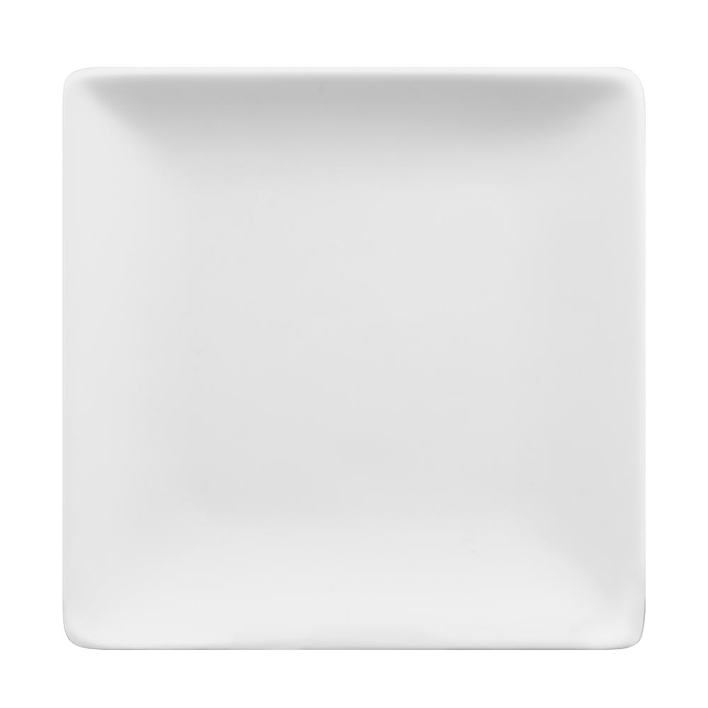 "World Tableware SL-114C 4"" Square Coupe Plate -  Ultra Bright White, Slate"
