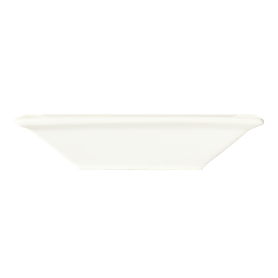 "World Tableware SL-12 7"" Square Porcelain Grapefruit Bowl w/ 12 oz Capacity, Porcelana, Slate"